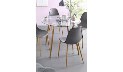 my home Glastisch »Miller«, runder Esstisch mit einem Ø von 100 cm kaufen
