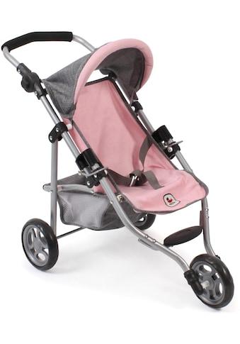 CHIC2000 Puppenbuggy »Jogging-Buggy Lola, grau-rosa«, mit klappbarem Verdeck kaufen
