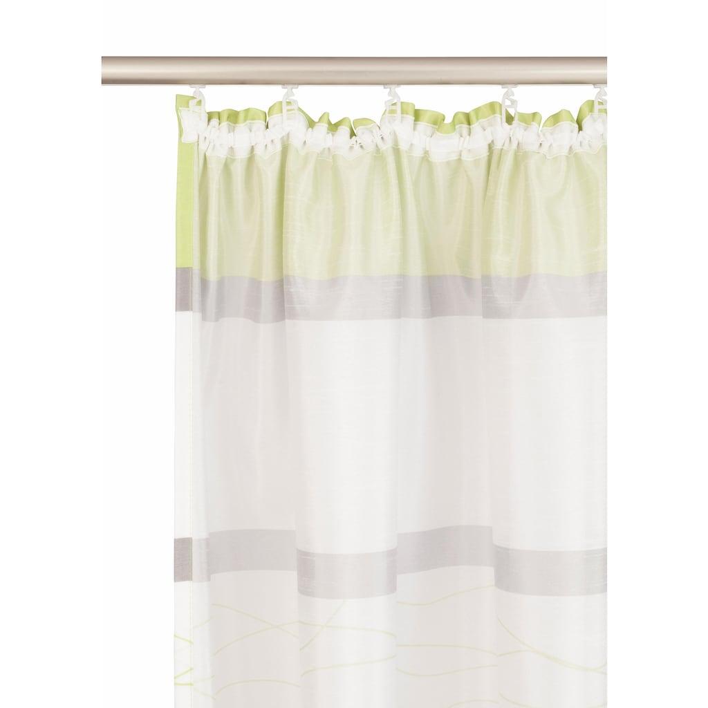 my home Vorhang »Maria«, Fertiggardine, Gardine, Inkl. 2 Raffbänder, halbtransparent