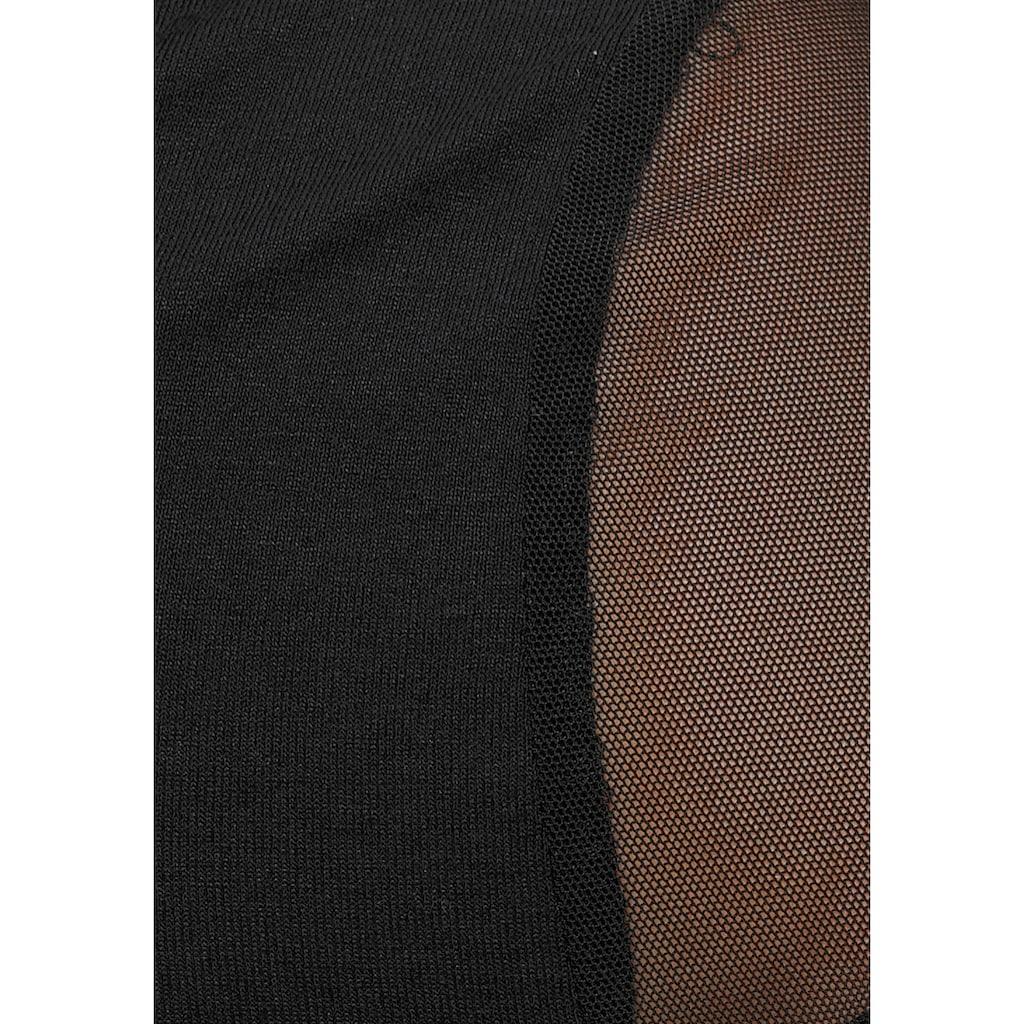 Melrose T-Shirt, mit Mesh und Bänderdetail