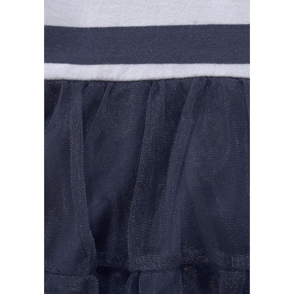Arizona Volantkleid, mit Wendepailletten und Tüll