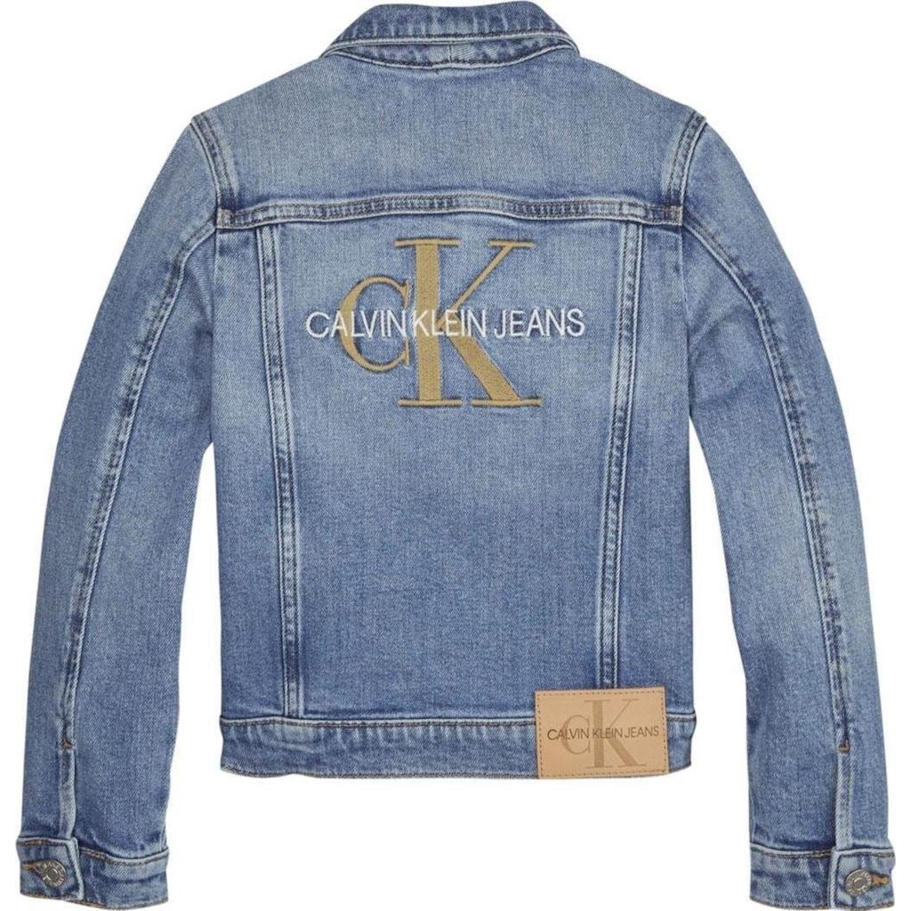 """Calvin Klein Jeans Jeansjacke »""""GIRLS TRUCKER - MNGR POWD CMF«, mit hochwertigen Logostickereien"""