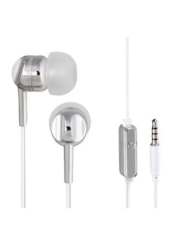 Thomson EAR3005GD Kopfhörer, In-Ear, Mikrofon, Silber kaufen