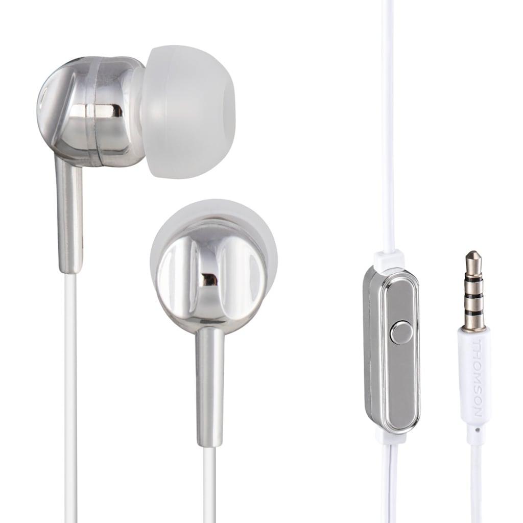 Thomson EAR3005GD Kopfhörer, In-Ear, Mikrofon, Silber