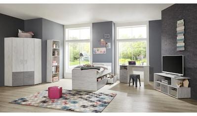 arthur berndt Jugendzimmer-Set »Insa«, (Set, 5 tlg., Bett + Eckkleiderschrank + Schreibtisch + Standregal + Lowboard) kaufen