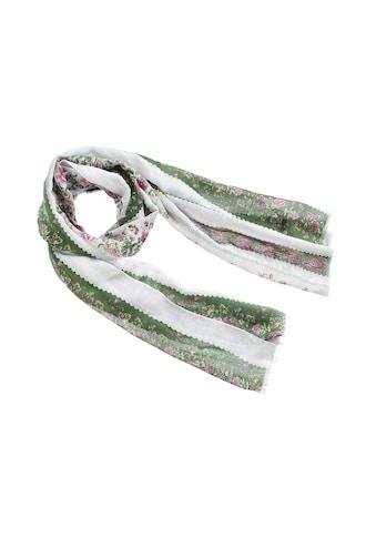 Schal, mit Rosenmotiv und kurzen Fransen kaufen