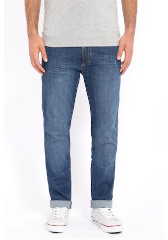 Way of Glory 5-Pocket-Jeans »John«, mit Sitzfalten in Stone Wash kaufen