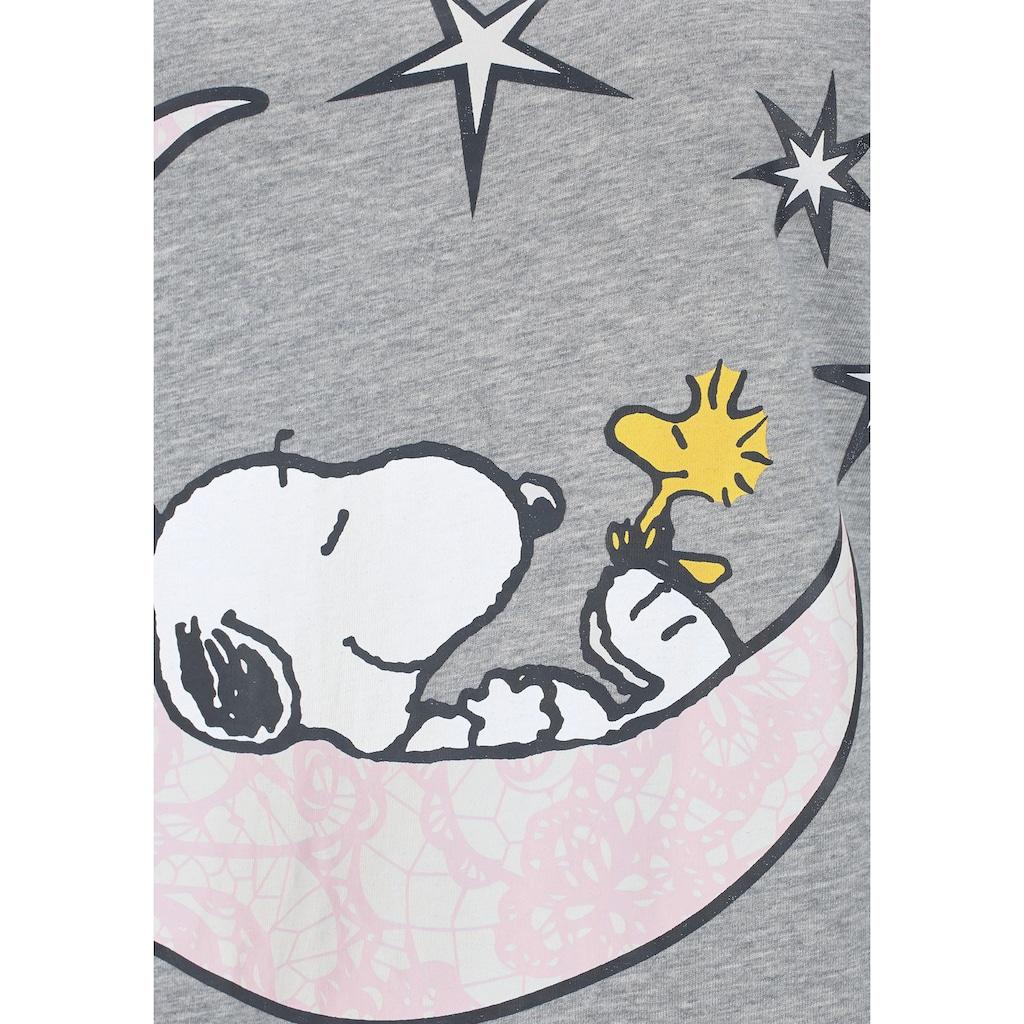 Peanuts Nachthemd, mit Snoopy-Print und Kräuselsäumen