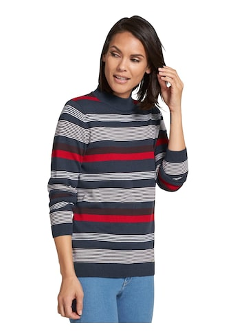 Casual Looks Pullover im garngefärbtem Ringeldessin kaufen