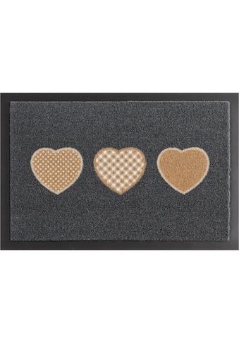 HANSE Home Fußmatte »Three Hearts«, rechteckig, 7 mm Höhe, Fussabstreifer, Fussabtreter, Schmutzfangläufer, Schmutzfangmatte, Schmutzfangteppich, Schmutzmatte, Türmatte, Türvorleger, rutschhemmend beschichtet kaufen