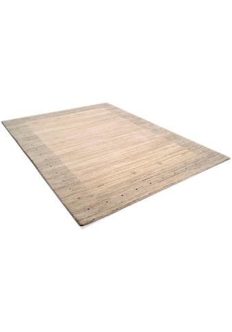 THEKO Wollteppich »Lori Dream 1«, rechteckig, 17 mm Höhe, reine Wolle, handgeknüpft, mit Bordüre, Wohnzimmer kaufen