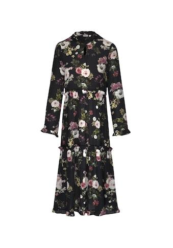 seidensticker Sommerkleid »Schwarze Rose«, Langarm V-Neck Uni kaufen