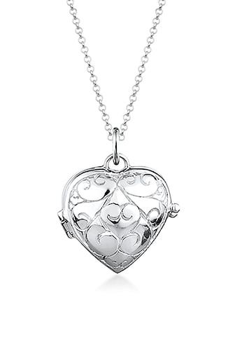 Elli Collierkettchen »Herz-Medaillon Amulett Ornament 925 Silber« kaufen