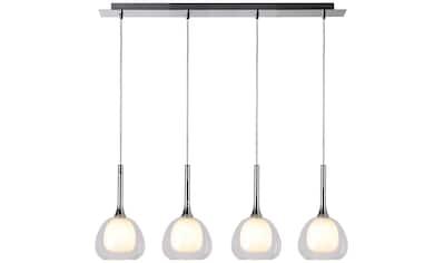 Brilliant Leuchten Hadan Pendelleuchte 4flg chrom/weiß-transparent kaufen