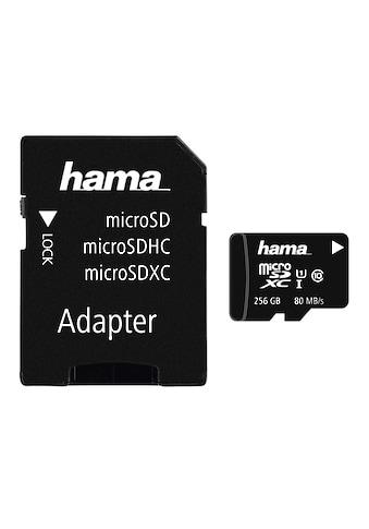 Hama microSDXC 256 GB Class 10 UHS-I 80MB/s + Adapter/Mobile kaufen