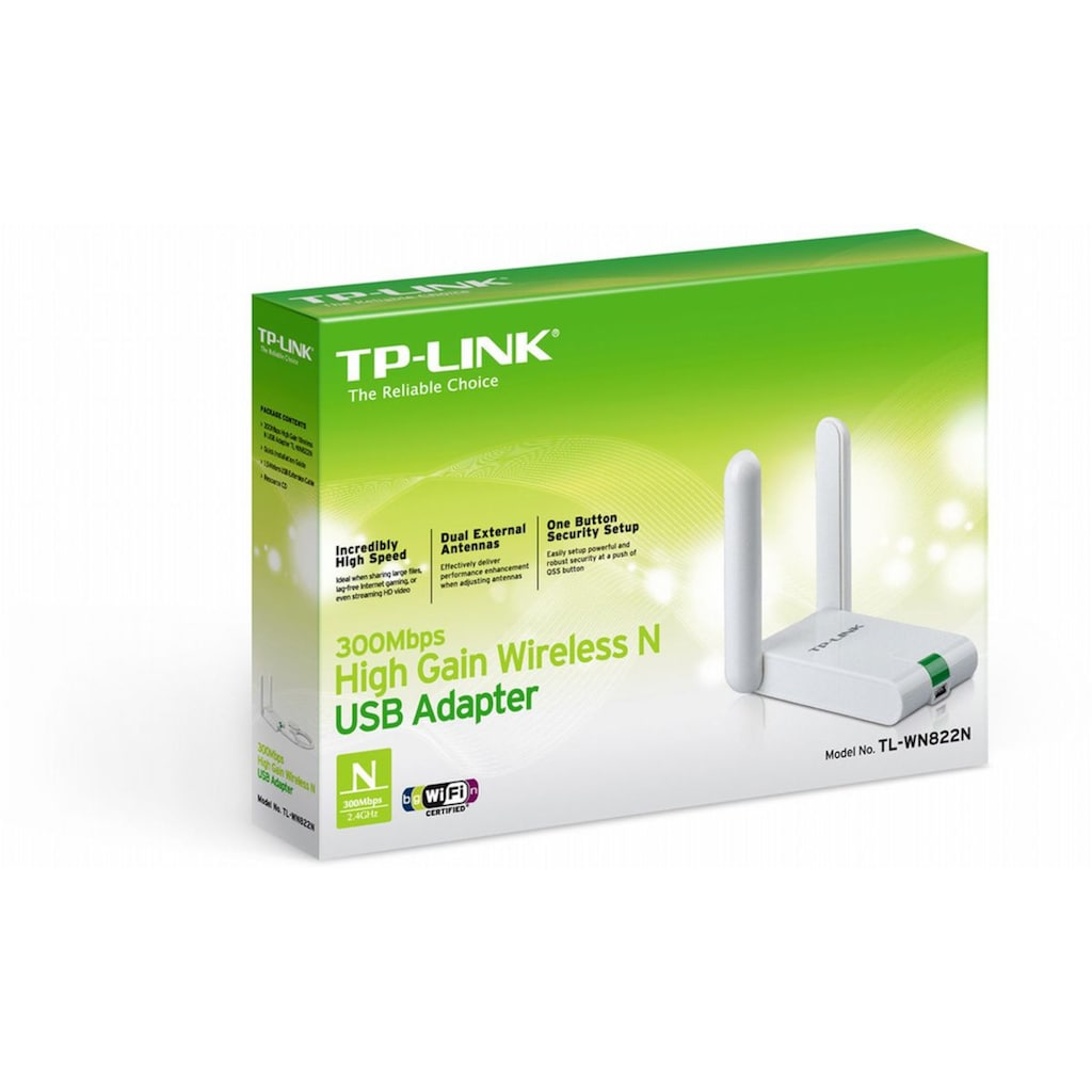 TP-Link Netzwerk-Adapter »TL-WN822N - N300 WLAN«, 150 cm, WLAN-Stick