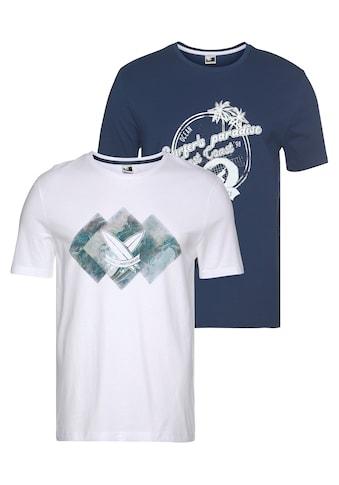 Ocean Sportswear T - Shirt »Surf the waves« (Packung, 2er - Pack) kaufen