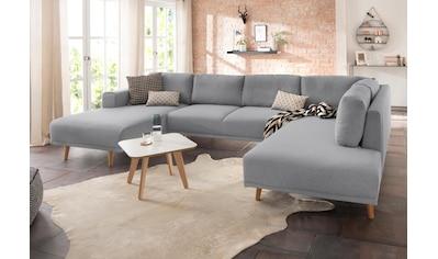 Home affaire Wohnlandschaft »Lasse«, im scandinavischem Stil mit Holzfüßen kaufen