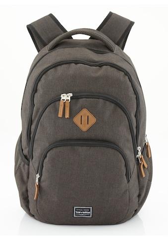travelite Cityrucksack »Basics Melange, braun«, mit Laptopfach kaufen