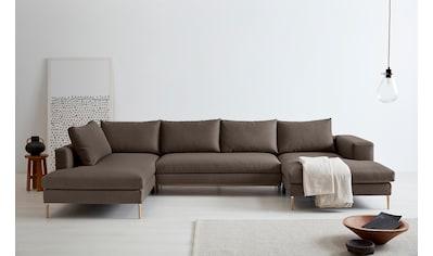 OTTO products Wohnlandschaft »Finnja«, mit Recycling-Bezug, wahlweise mit Bettfunktion und Stauraum (Maße: 371cm x 83cm x 210 cm) oder ohne Bettfunktion (Maße: 351cm x 83 cm x 170 cm) kaufen