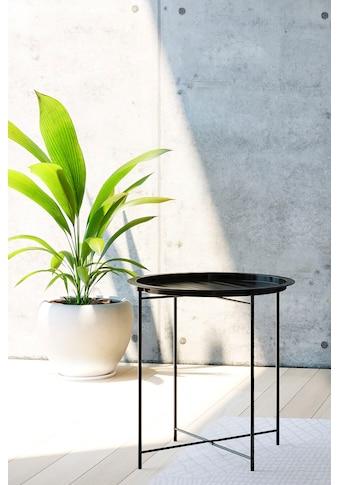 Homexperts Beistelltisch »Smart«, Tablett-Tisch aus Metall, 47 cm Durchmesser kaufen