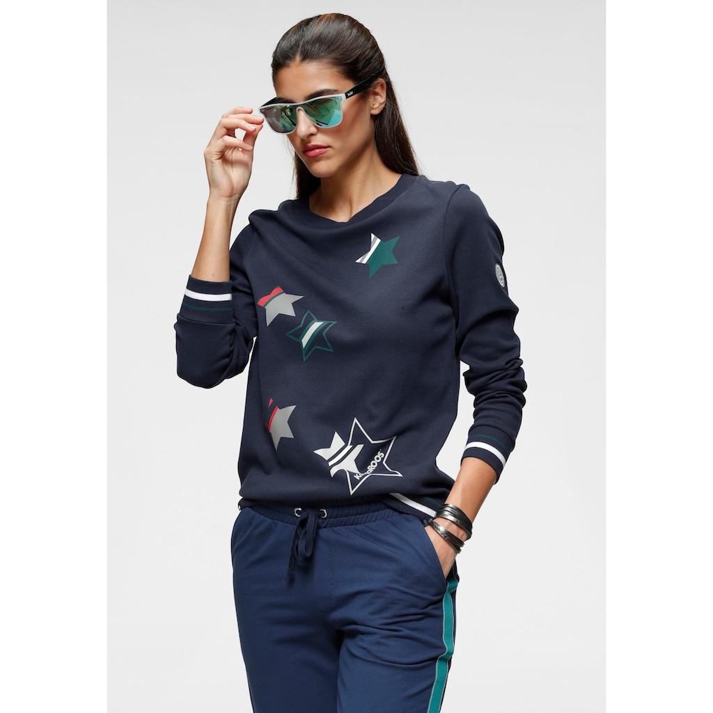 KangaROOS Sweater, mit süßen Sternchen-Drucken