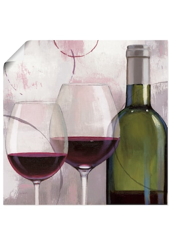 Artland Wandbild »Geschmack Rot II«, Getränke, (1 St.), in vielen Größen &... kaufen
