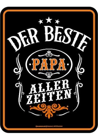 """Rahmenlos Blechschild im dekorativen Design »""""Der beste Papa""""« kaufen"""