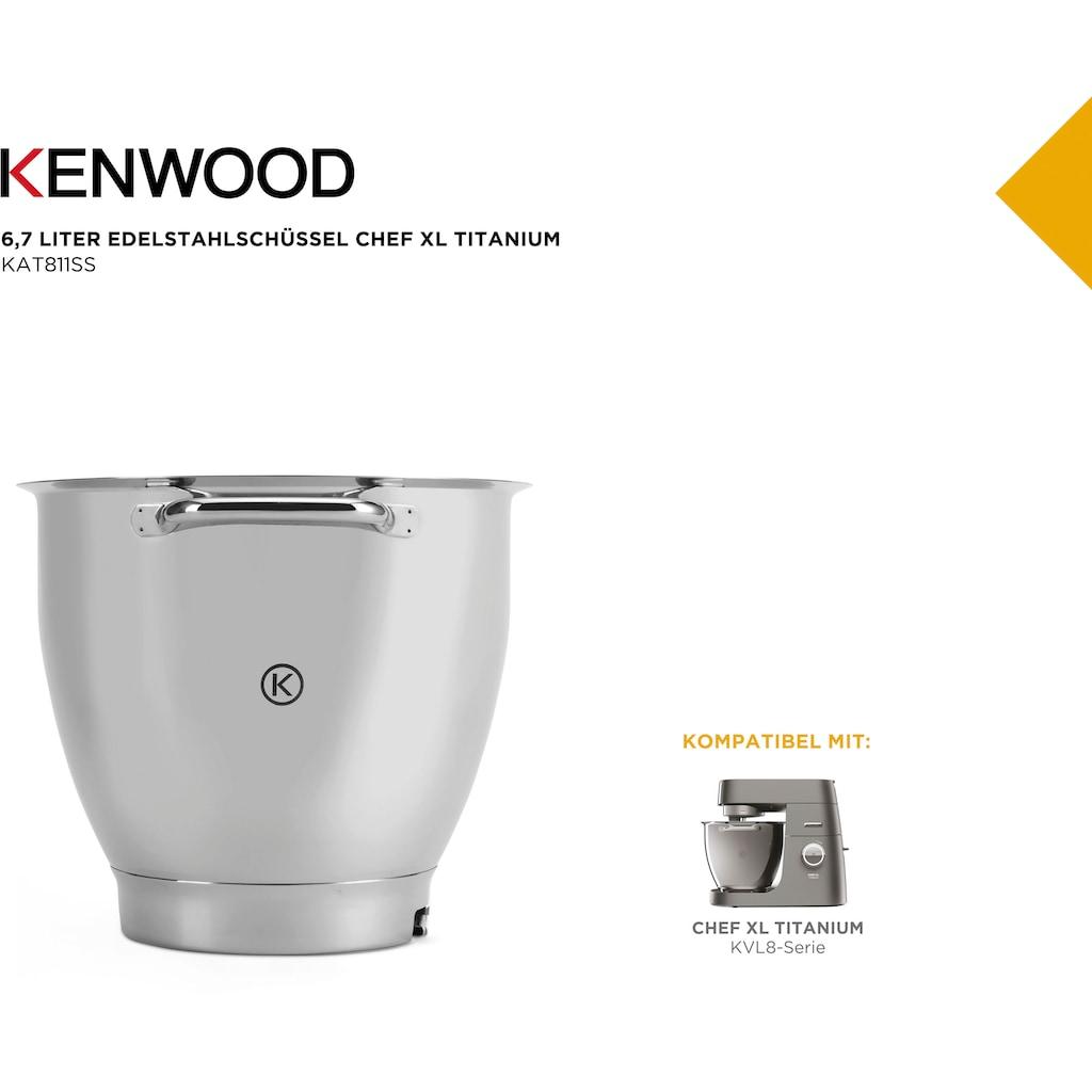 KENWOOD Küchenmaschinenschüssel »Chef XL Titanium KAT811SS«, Geeignet für alle Chef XL Titanium Küchenmaschinen der KVL8300 & KVL8400 Serie