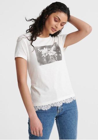 Superdry T-Shirt »TILLY LACE GRAPHIC TEE«, mit Spitzen-Details kaufen