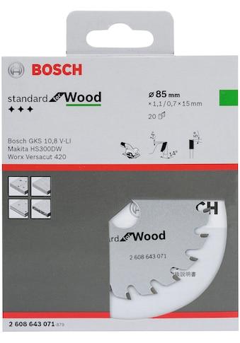BOSCH Kreissägeblatt »Kreissägeblatt Optiline Wood«, 85 x 15 x 1,1 mm, 20 kaufen