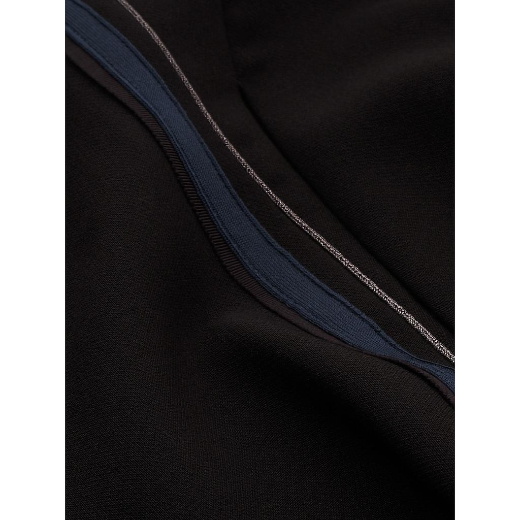 Sandwich A-Linien-Kleid mit Glitzereffektgarn-Paspel