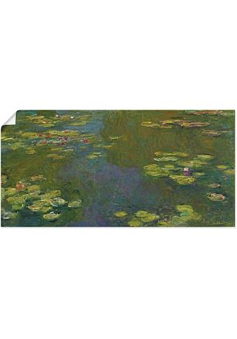 Artland Wandbild »Der Seerosenteich Le bassin aux nympheas«, Blumen, (1 St.), in... kaufen