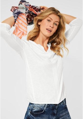 Cecil 3/4-Arm-Shirt, aus softem Materialmix kaufen