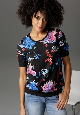 Aniston CASUAL Shirtbluse, mit sportiven Rippbündchen - NEUE KOLLEKTION kaufen