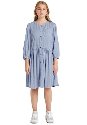 TOM TAILOR Denim Hemdblusenkleid, mit 3/4-Ärmel mit Gummizug kaufen