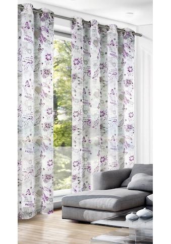 WILLKOMMEN ZUHAUSE by ALBANI GROUP Vorhang »Floral«, Ösenschal kaufen