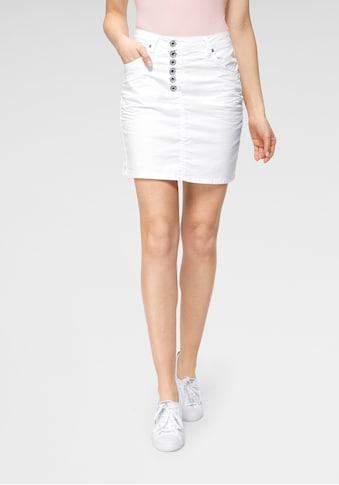 Please Jeans Minirock »G713«, stylischer Jeans-Mini-Rock mit Knopfleiste & leichter... kaufen