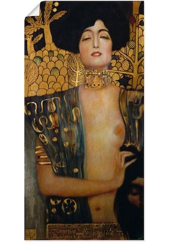 Artland Wandbild »Judith I., 1901«, Frau, (1 St.), in vielen Größen & Produktarten... kaufen