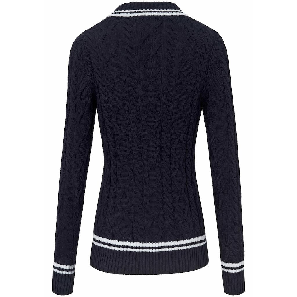 Looxent V-Ausschnitt-Pullover »V-Pullover«, Kontrastverarbeitung