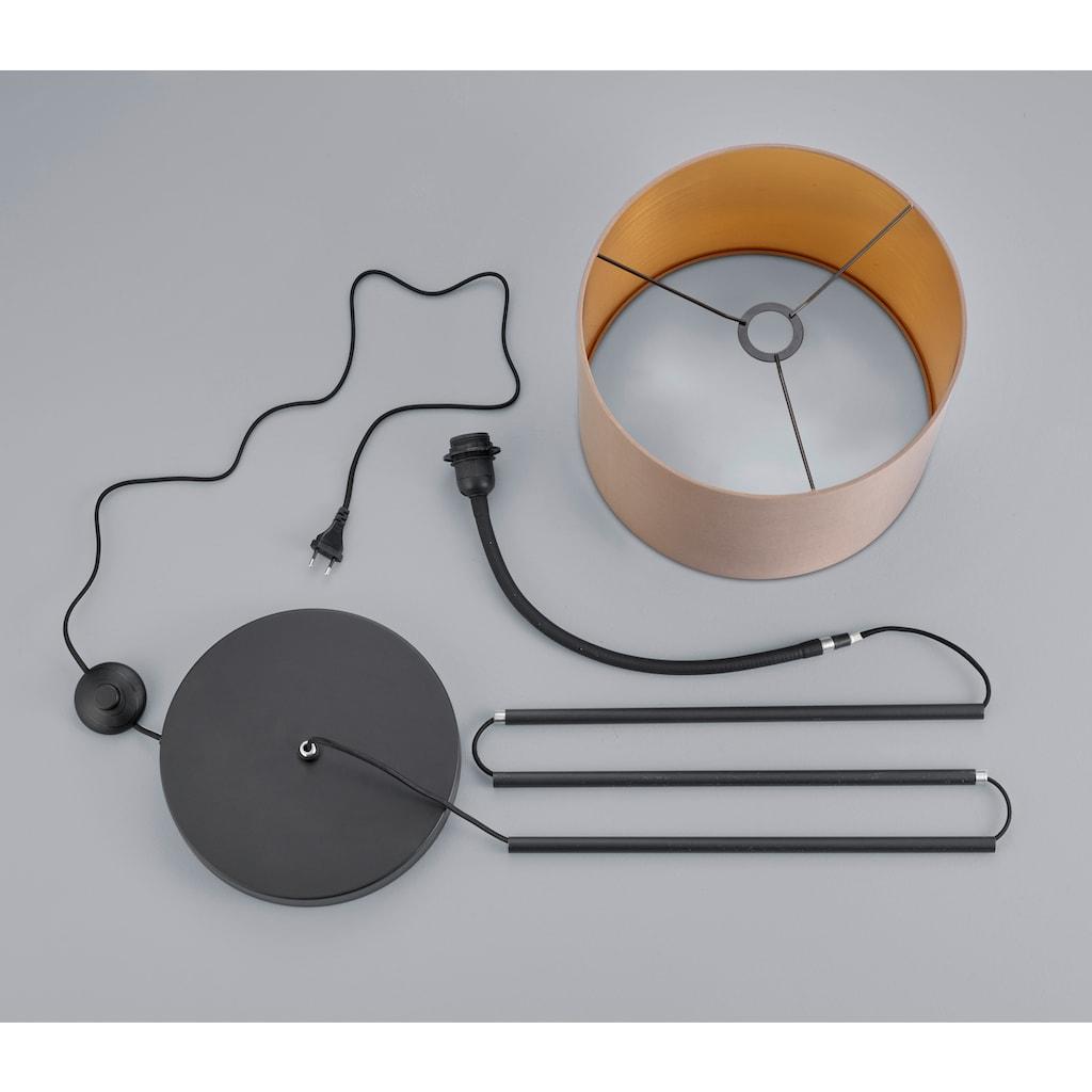 my home Stehlampe »JOSIE«, E27, Stehleuchte mit flexiblem, schwenkbaren Schirm
