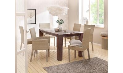 Home affaire Esstisch »Mary«, aus massiver Wildeiche, in verschiedenen Tischbreiten erhältlich kaufen
