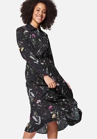 Mavi Maxikleid »PRINTED SHIRT DRESS«, mit durchgehender Knopfleiste u. Volant am... kaufen