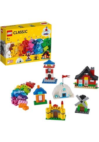 LEGO® Konstruktionsspielsteine »LEGO® Bausteine - bunte Häuser (11008), LEGO® Classic«, (270 St.), Made in Europe kaufen