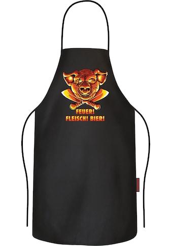Rahmenlos BBQ-Grillschürze mit coolem Front-Print kaufen