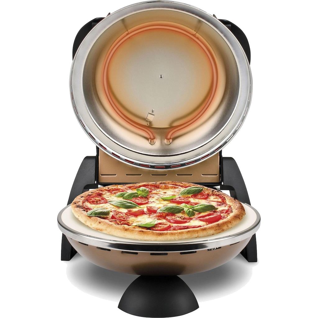 G3Ferrari Pizzaofen »Delizia G1000608 kupfer«, Grill, 1200 W, bis 400 Grad mit feuerfestem Naturstein / Pizza und Fladen uvm. in 3 Minuten / G3 Ferrari die Nr. 1 weltweit der Pizzamaker / auch für Tisch und Garten