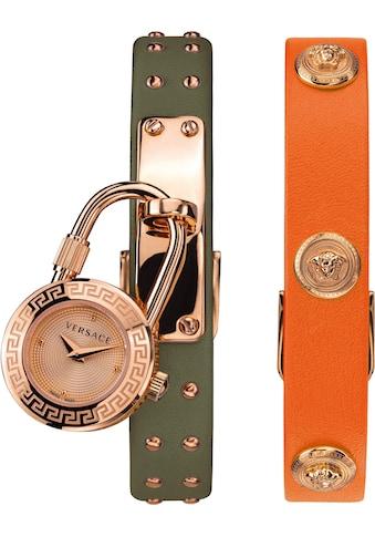 Versace Schweizer Uhr »Medusa Lock Icon, VEDW00519«, (Set, 3 tlg., mit zusätzlichem Lederband) kaufen