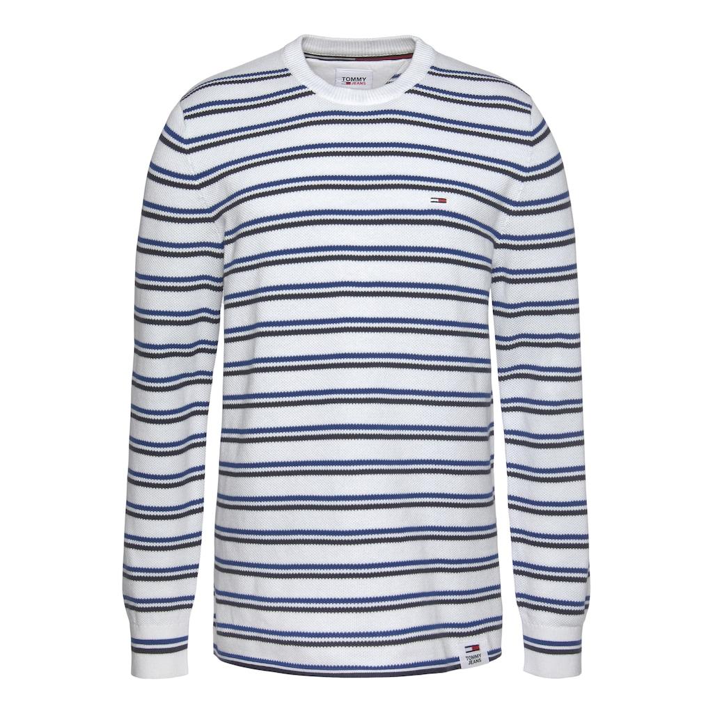 Tommy Jeans Strickpullover »TJM MULTISTRIPE COTTON SWEATER«