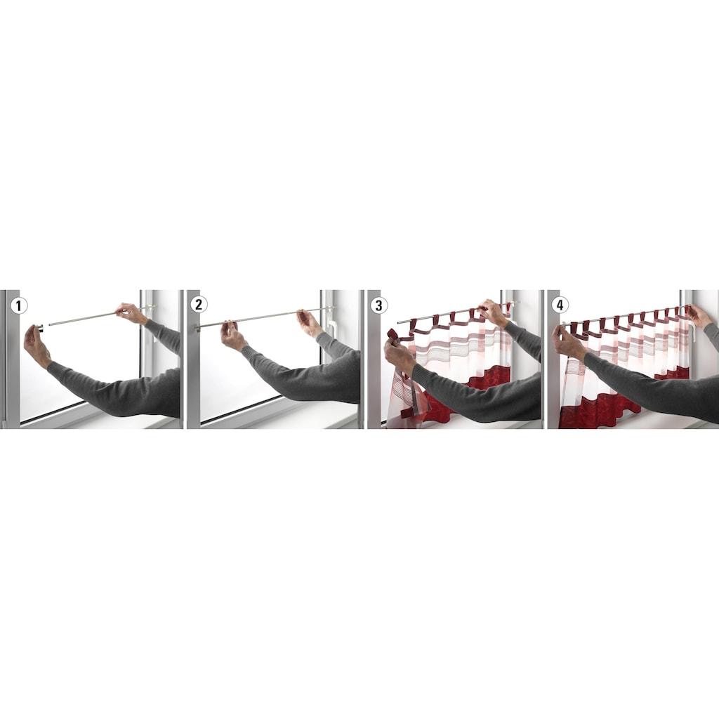 GARDINIA Klemmstange »Klemmstange Filigrano Zylinder«, ausziehbar, Serie Press & Go