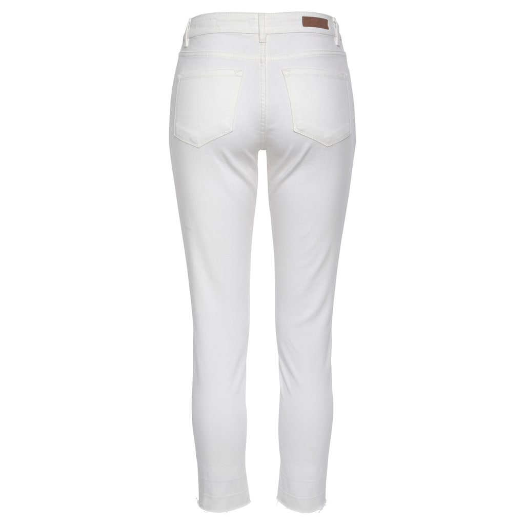 OPUS Ankle-Jeans »Elma«, offener, leicht ausgefranster Hosensaum